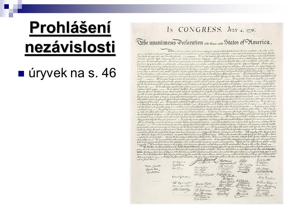 Prohlášení nezávislosti úryvek na s. 46