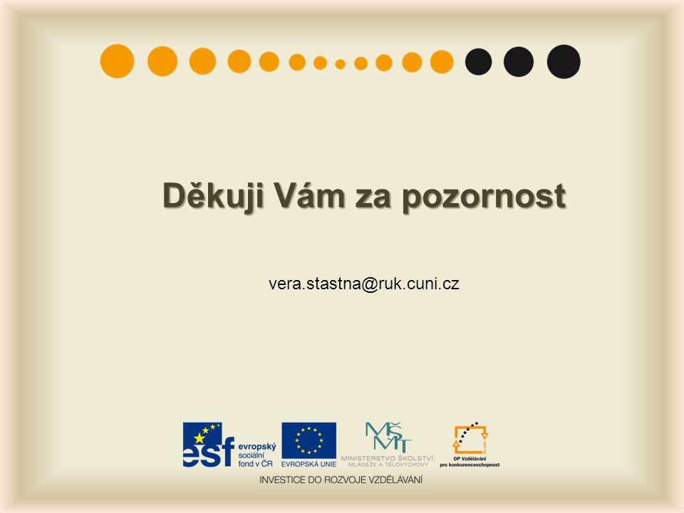 Děkuji Vám za pozornost vera.stastna@ruk.cuni.cz