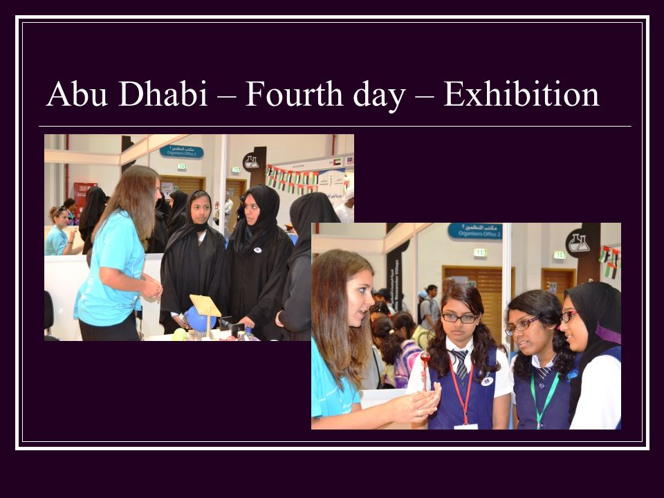 Abu Dhabi – Fourth day – Exhibition