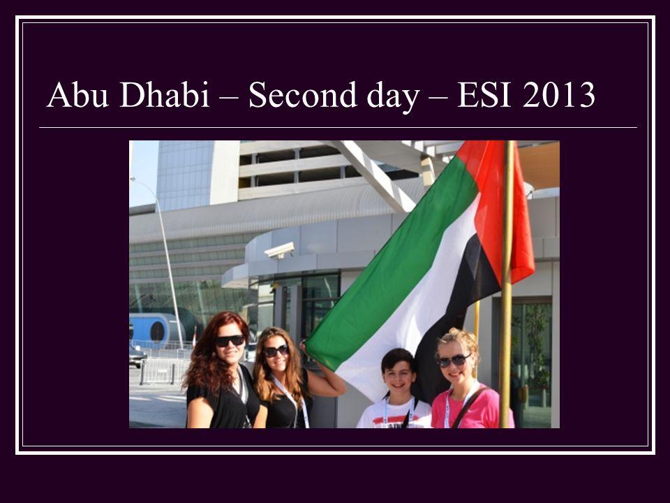 Abu Dhabi – Eight day – shopping