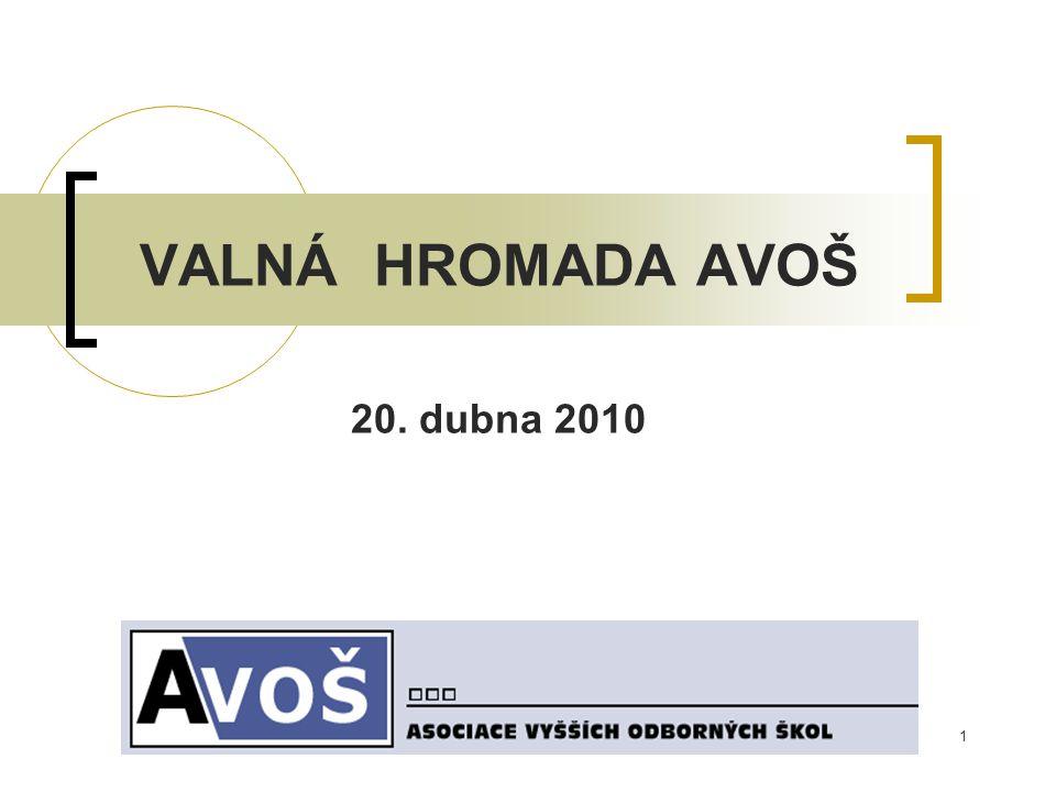 2 NÁVRH USNESENÍ VALNÉ HROMADY AVOŠ VH schvaluje zprávu o činnosti za rok 2009.