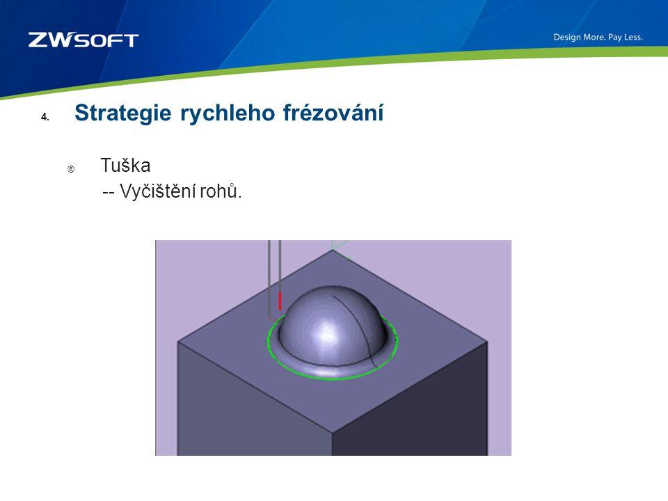 4. Strategie rychleho frézování ⑥ Tuška -- Vyčištění rohů.