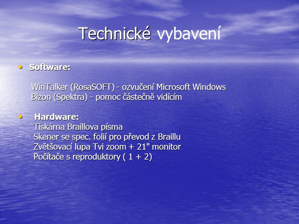 Technické Technické vybavení Software: Software: WinTalker (RosaSOFT) - ozvučení Microsoft Windows WinTalker (RosaSOFT) - ozvučení Microsoft Windows B