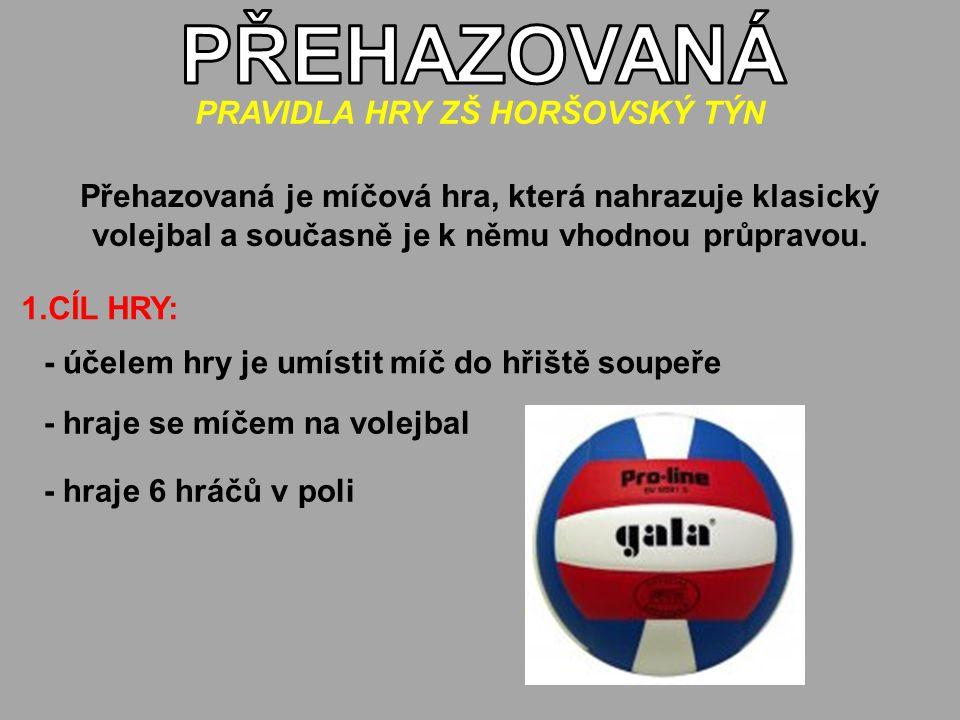 Přehazovaná je míčová hra, která nahrazuje klasický volejbal a současně je k němu vhodnou průpravou.