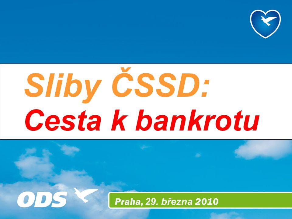 Praha, 29. března 2010 Sliby ČSSD: Cesta k bankrotu