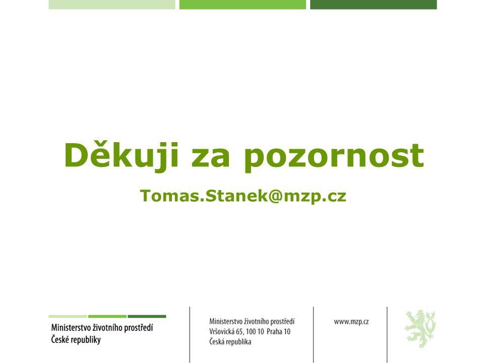 Děkuji za pozornost Tomas.Stanek@mzp.cz