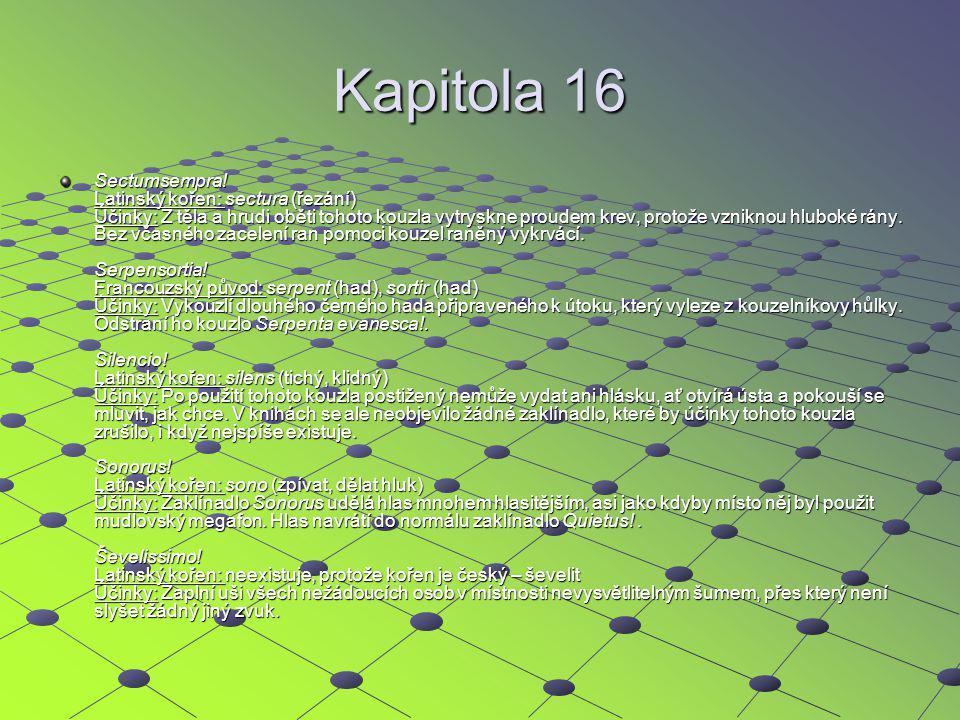 Kapitola 16 Sectumsempra.