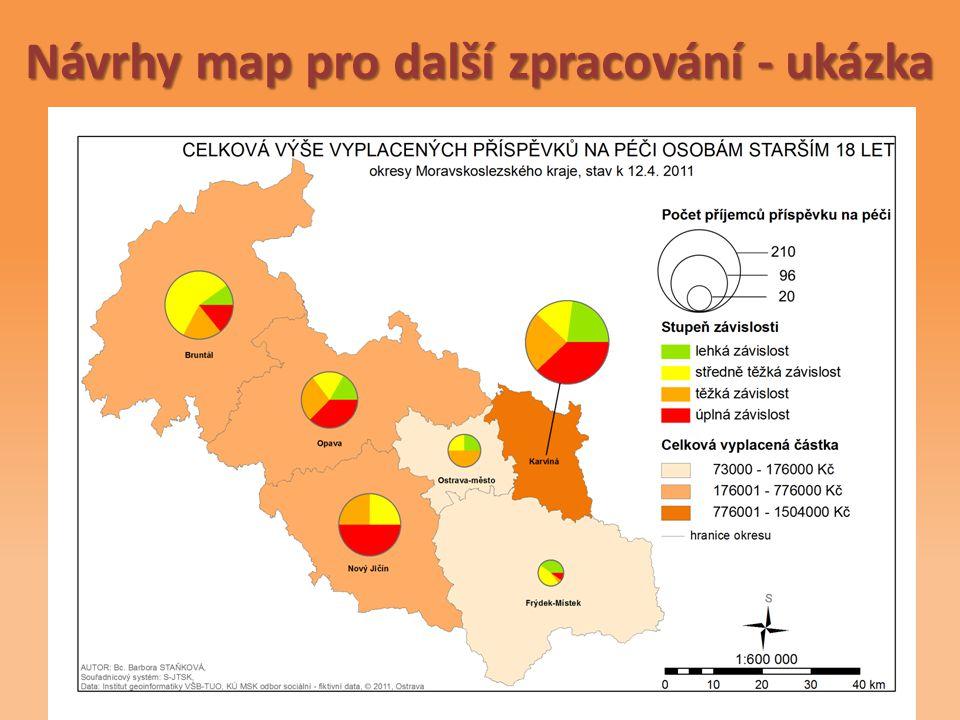 Návrhy map pro další zpracování - ukázka