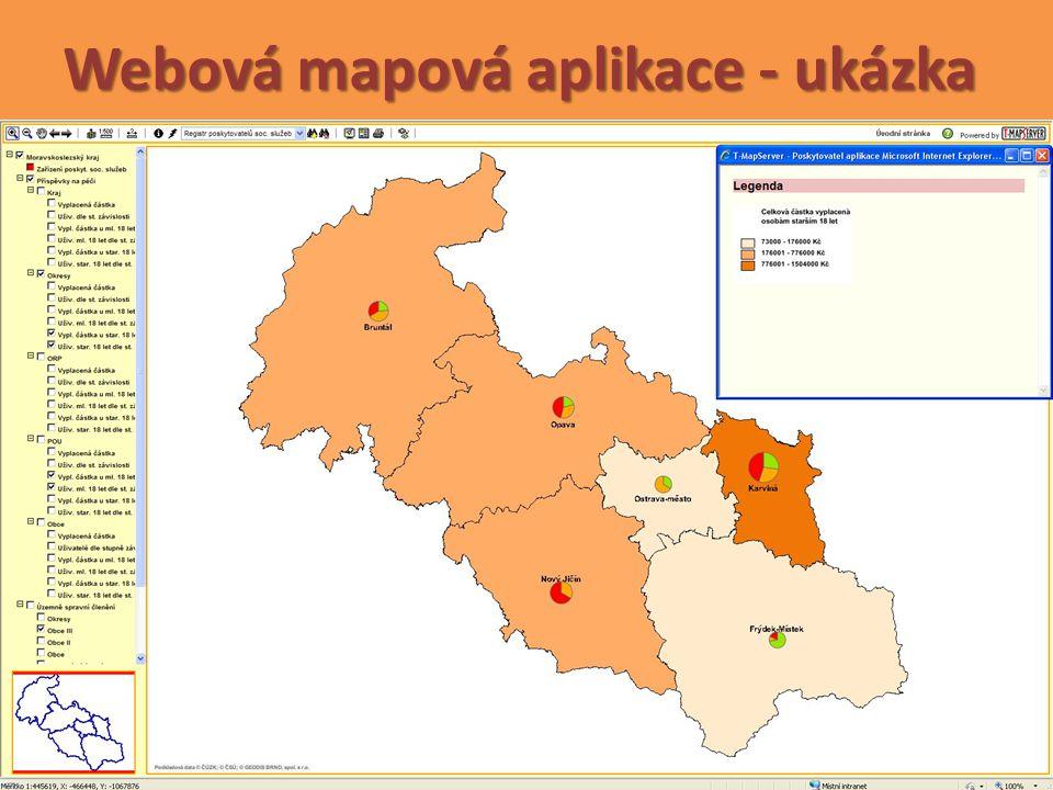 Webová mapová aplikace - ukázka