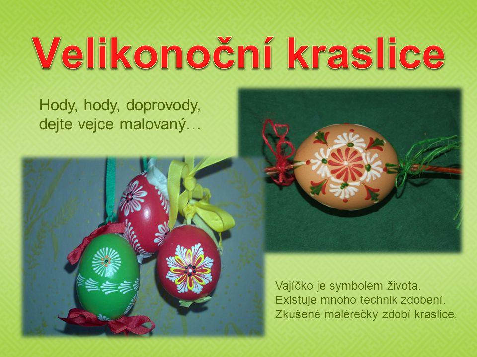 Hody, hody, doprovody, dejte vejce malovaný… Vajíčko je symbolem života.