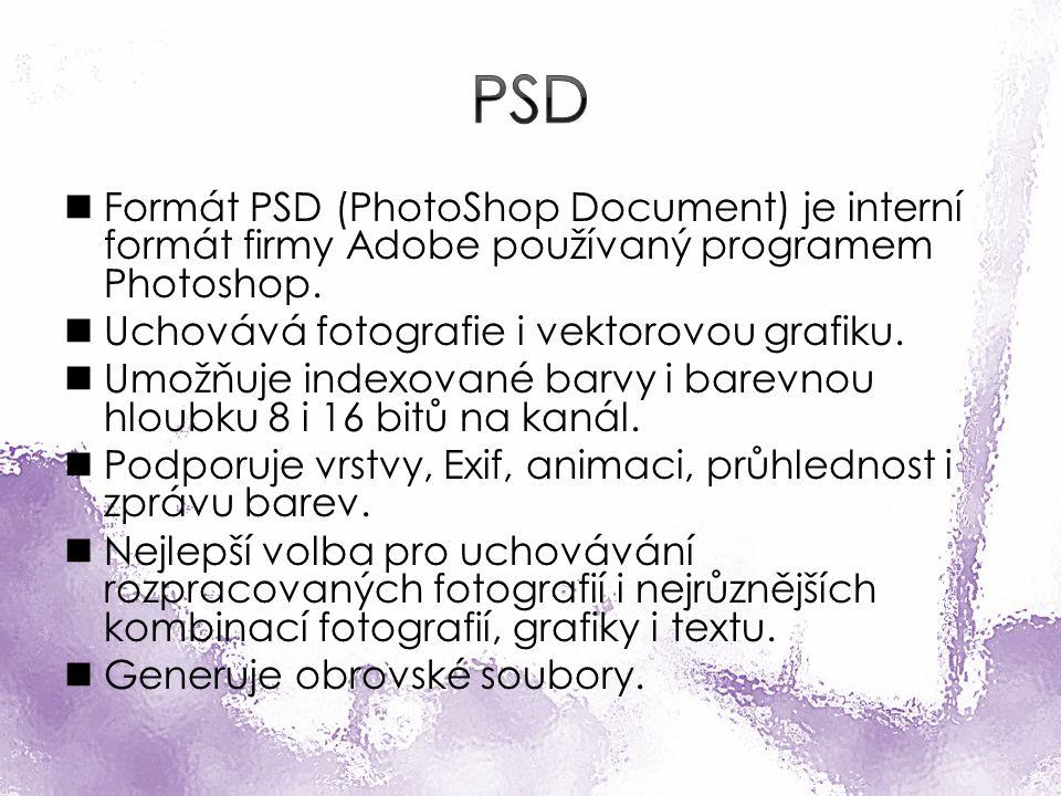 Formát PSD (PhotoShop Document) je interní formát firmy Adobe používaný programem Photoshop.