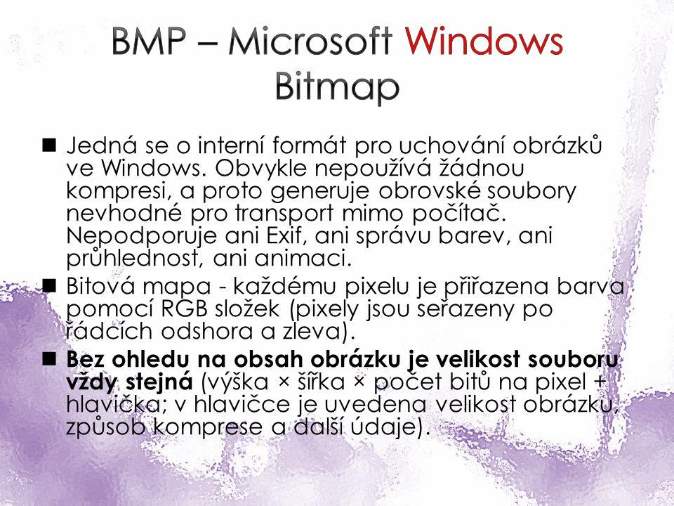 Jedná se o interní formát pro uchování obrázků ve Windows.