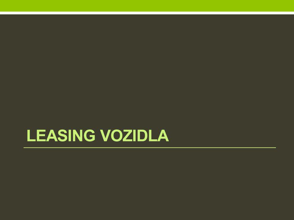 LEASING VOZIDLA
