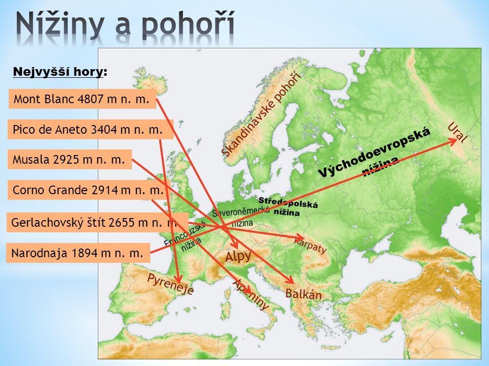 Severní ledový oceán Atlanský oceán Středozemní moře Černé moře Kaspické moře Severní moře Baltské moře Jaderské moře Egejské moře Evropu oblévají slané oceánské vody Atlanského a Severního ledového oceánu.