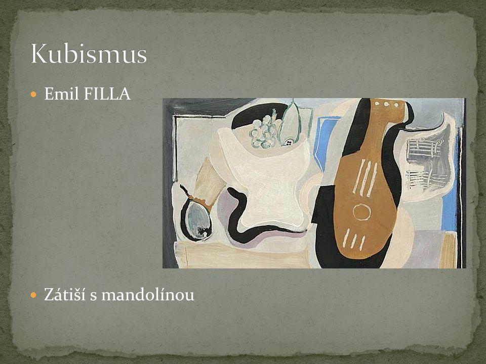 Emil FILLA Zátiší s mandolínou
