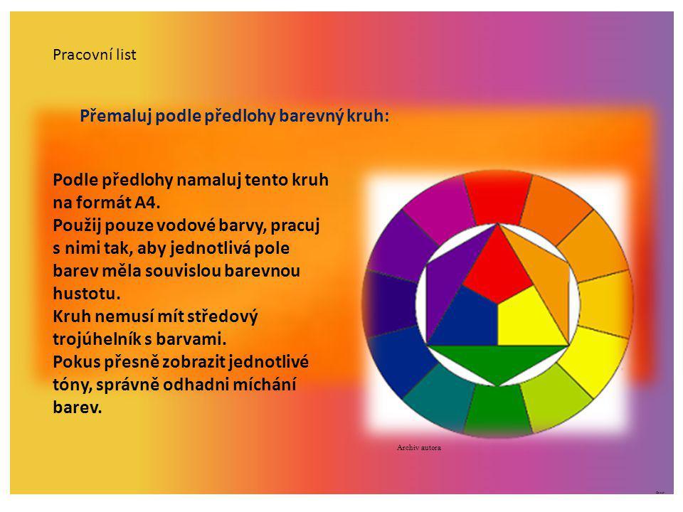 ©c.zuk Pracovní list Přemaluj podle předlohy barevný kruh: Podle předlohy namaluj tento kruh na formát A4. Použij pouze vodové barvy, pracuj s nimi ta