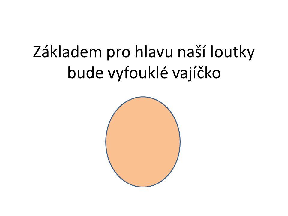 Základem pro hlavu naší loutky bude vyfouklé vajíčko