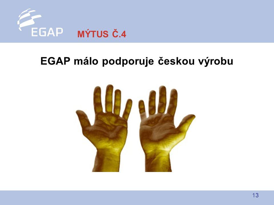 13 EGAP málo podporuje českou výrobu MÝTUS Č.4