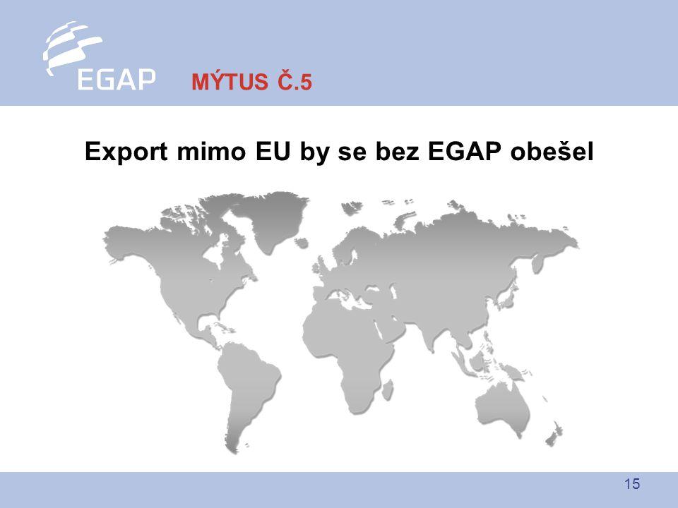 15 Export mimo EU by se bez EGAP obešel MÝTUS Č.5
