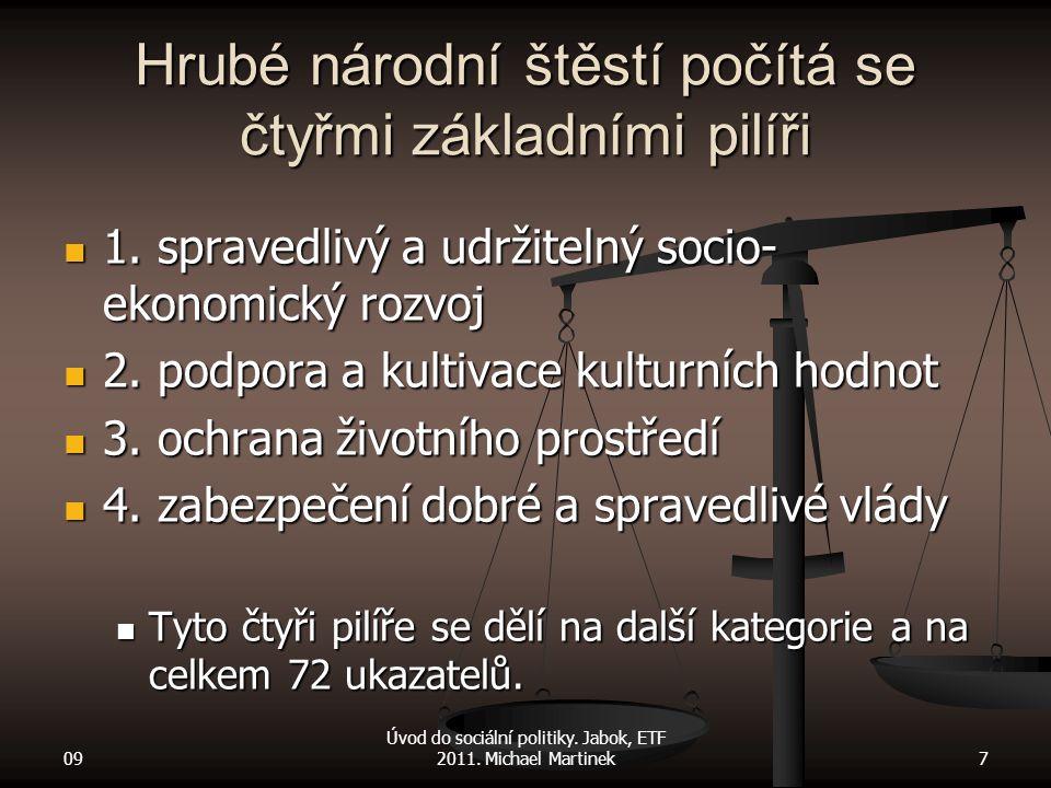 1. spravedlivý a udržitelný socio- ekonomický rozvoj 1. spravedlivý a udržitelný socio- ekonomický rozvoj 2. podpora a kultivace kulturních hodnot 2.
