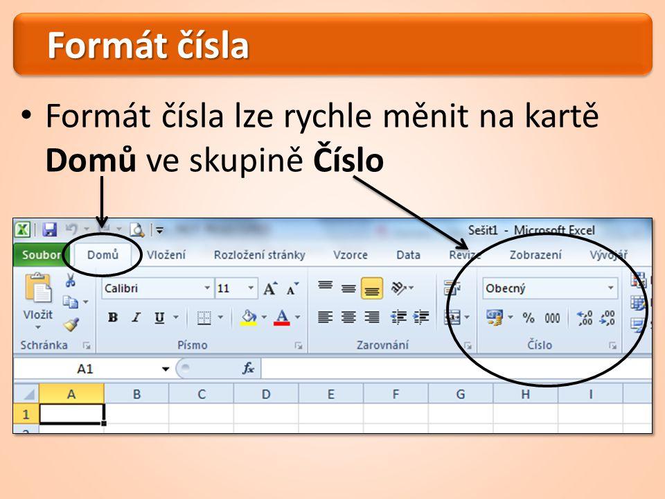 Formát čísla Další nastavení najdete v dialogovém okně Formát buněk Dialogové okno zobrazíme kliknutím na ikonu ve skupině Číslo