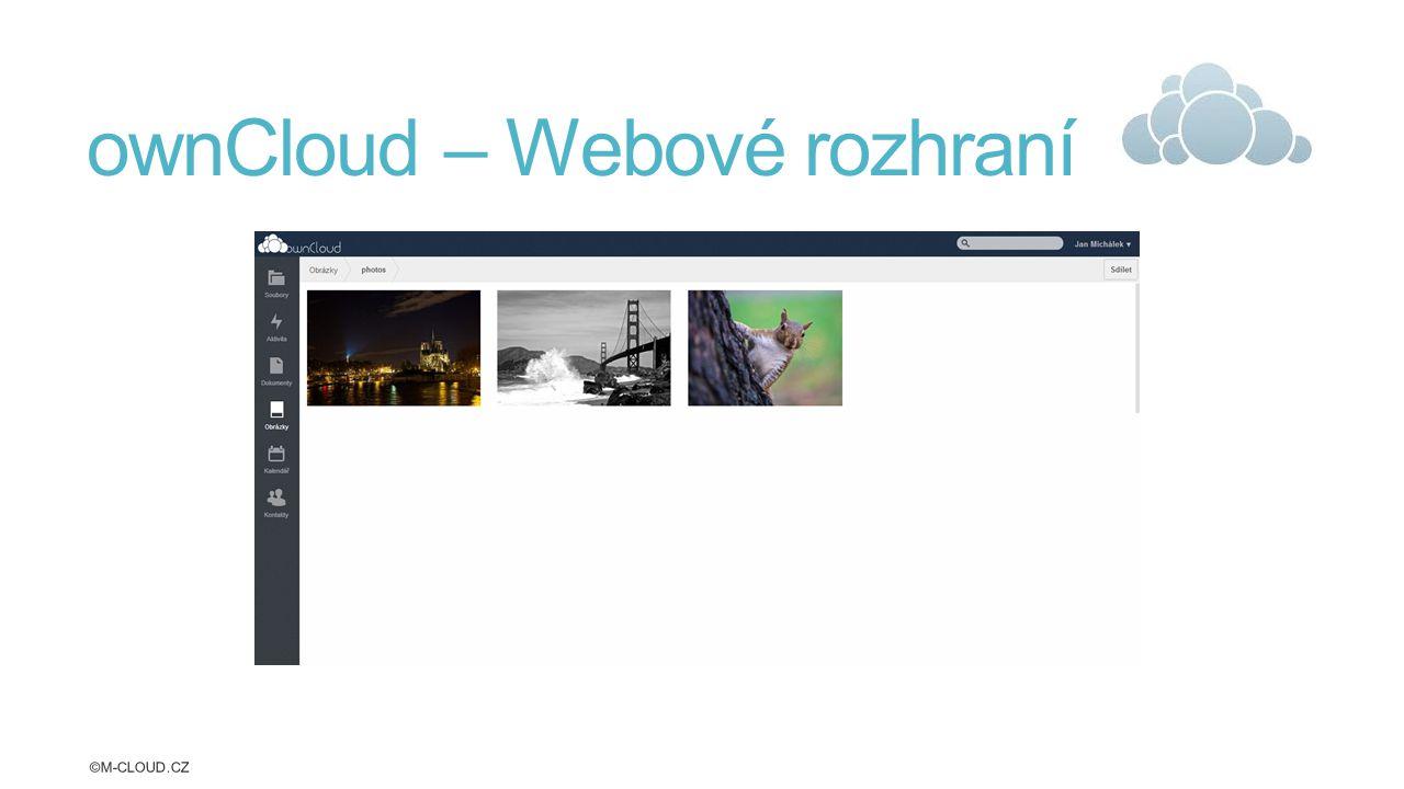 ownCloud – Webové rozhraní ©M-CLOUD.CZ