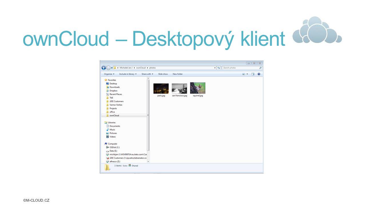 ownCloud – Desktopový klient ©M-CLOUD.CZ