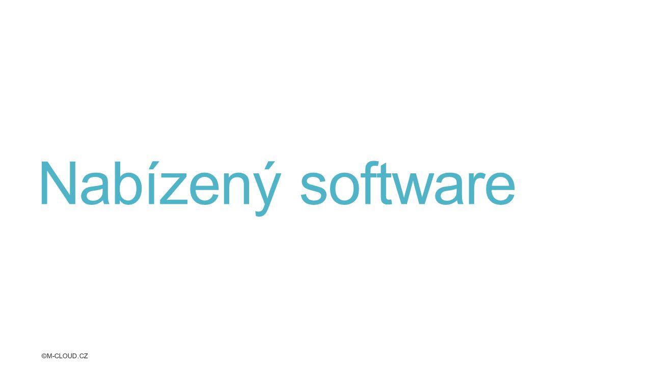Nabízený software ©M-CLOUD.CZ