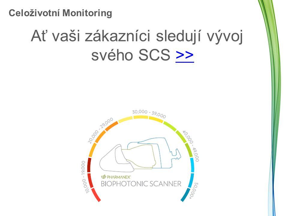 Celoživotní Monitoring Ať vaši zákazníci sledují vývoj svého SCS >>>>