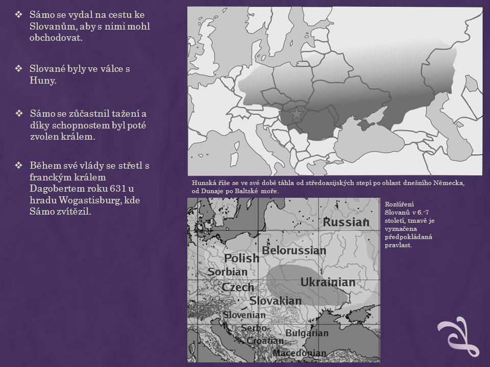 rozsah Sámovy říše  Fedegar neurčuje přesněji, kde se tato říše rozkládá.