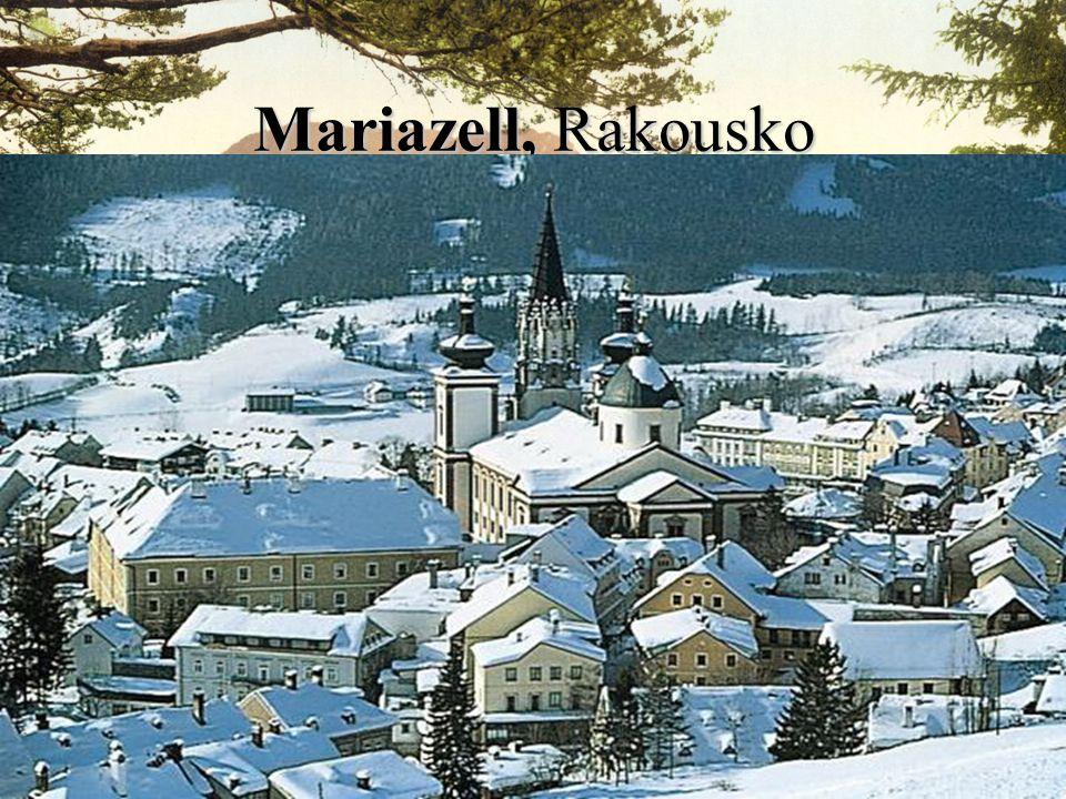 Mariazell, Rakousko jeho založení je datováno podle zázraku z roku 1157 na cestu, po které kráčel benediktinský mnich, spadla obrovská skála.