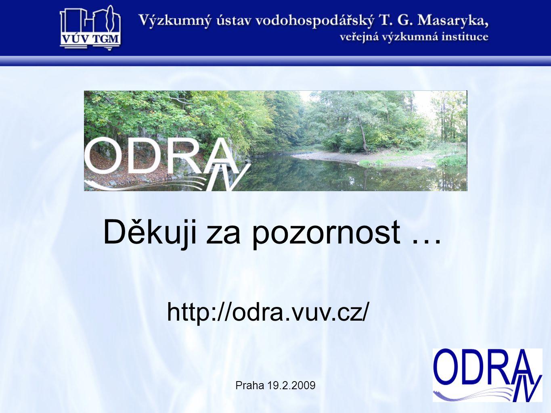 Praha 19.2.2009 Děkuji za pozornost … http://odra.vuv.cz/