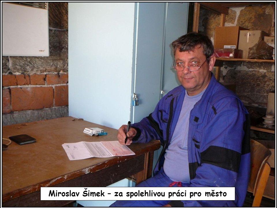 Miroslav Šimek – za spolehlivou práci pro město