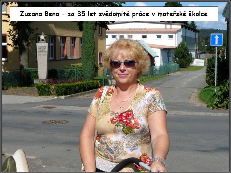 Zuzana Bena – za 35 let svědomité práce v mateřské školce