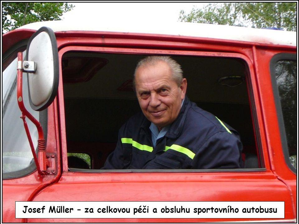 Josef Müller – za celkovou péči a obsluhu sportovního autobusu