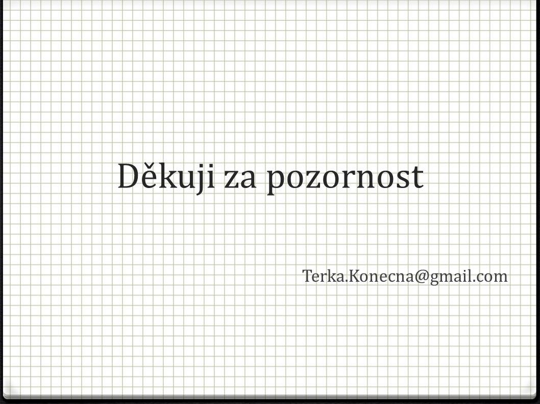 Děkuji za pozornost Terka.Konecna@gmail.com