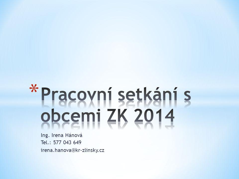 Ing. Irena Hánová Tel.: 577 043 649 irena.hanova@kr-zlinsky.cz 1