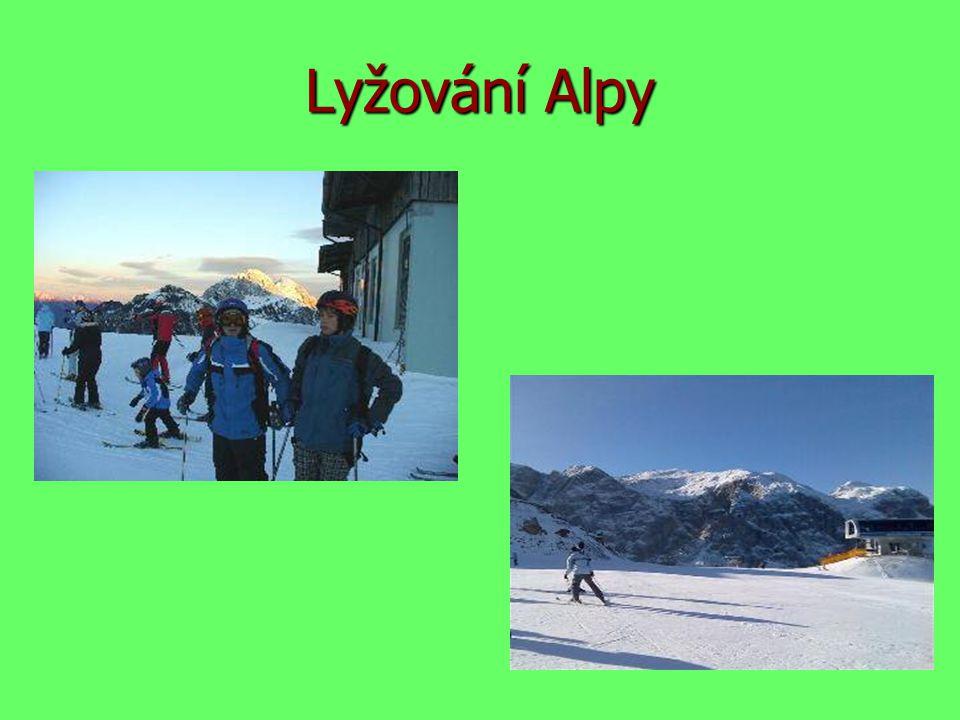 Lyžování Alpy