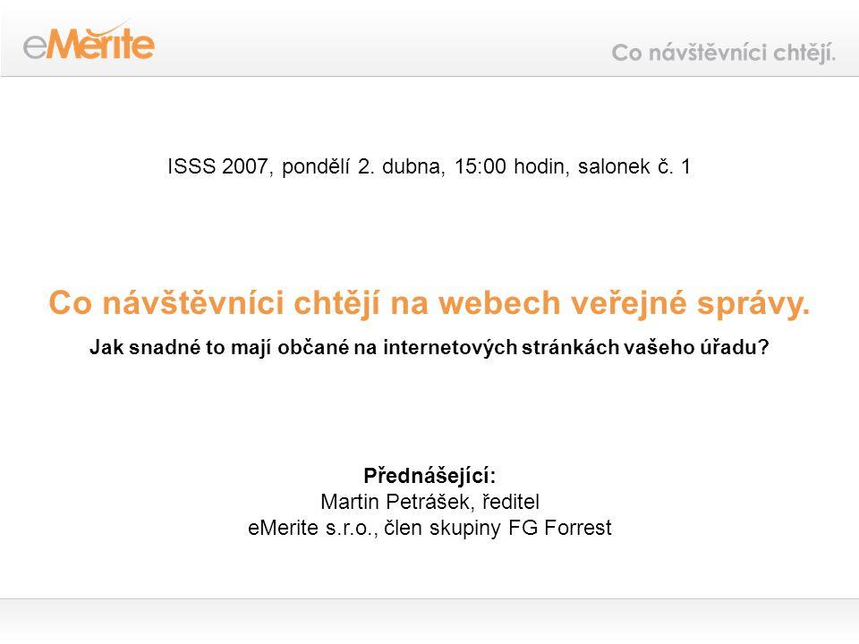 ISSS 2007, pondělí 2. dubna, 15:00 hodin, salonek č.
