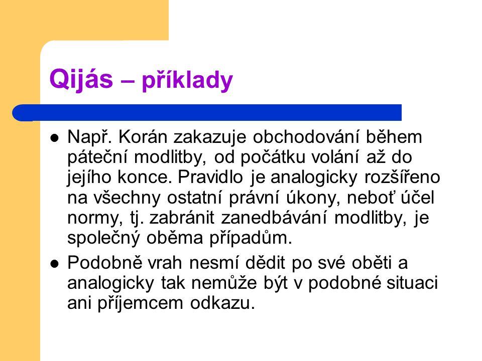 Qijás – příklady Např.