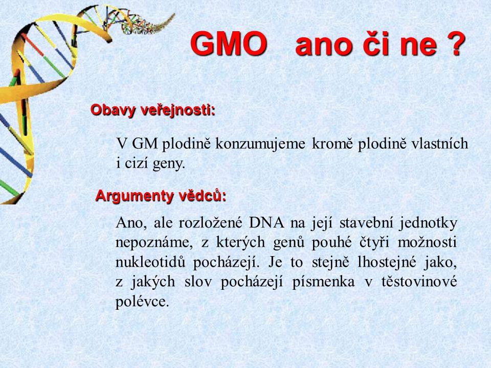 Ano, ale rozložené DNA na její stavební jednotky nepoznáme, z kterých genů pouhé čtyři možnosti nukleotidů pocházejí. Je to stejně lhostejné jako, z j