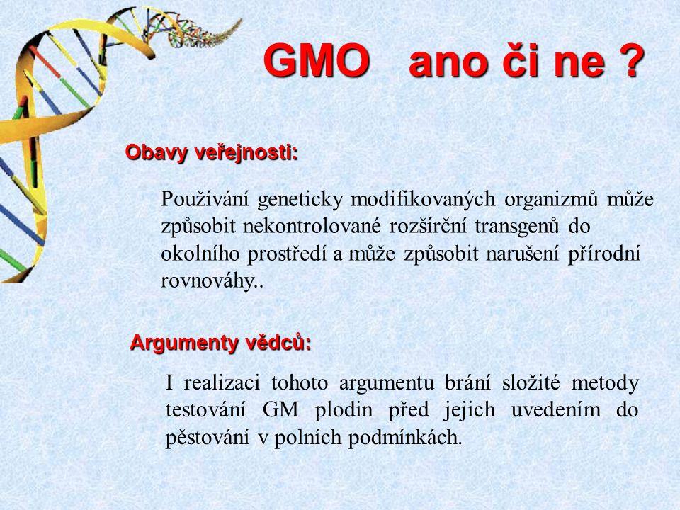 I realizaci tohoto argumentu brání složité metody testování GM plodin před jejich uvedením do pěstování v polních podmínkách. GMO ano či ne ? Argument
