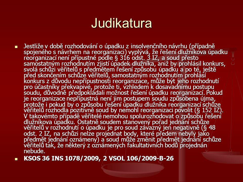 Přerušení soudních a jiných řízení II.