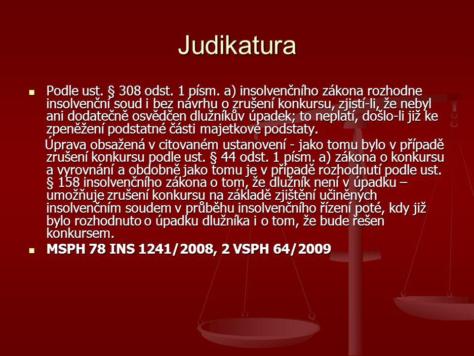 Judikatura Podle ust.§ 308 odst. 1 písm.