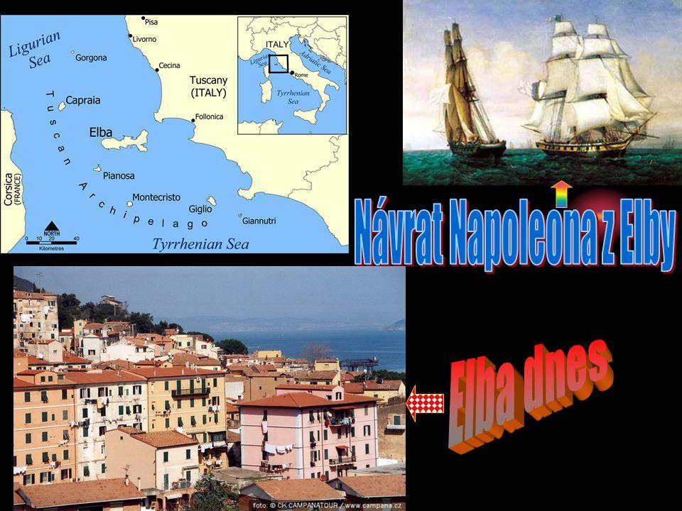 V roce 1814 byl protifrancouzskou koalicí donucen vzdát se trůnu a byl vykázán na ostrov Elba. Na francouzský trůn byl dosazen mladší bratr Ludvíka XV