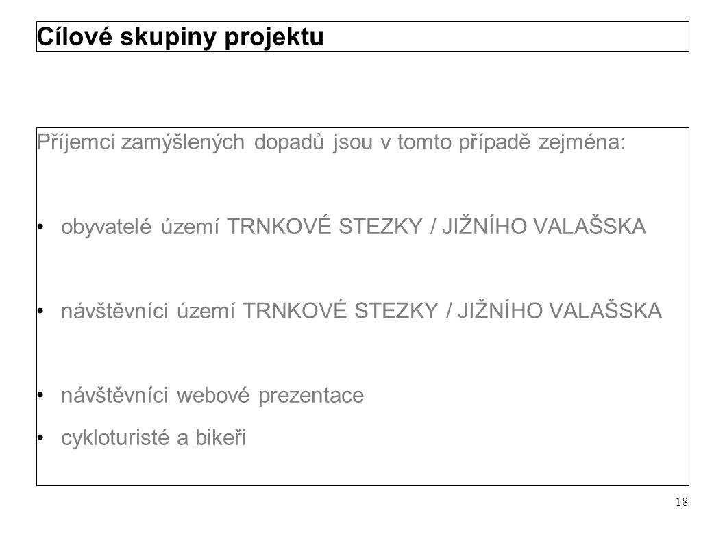 Dopady projektu Další rozšíření a zkvalitnění produktu TRNKOVÁ STEZKA / JIŽNÍ VALAŠSKO Propagace produktu s akcentem na jeho identifikaci u veřejnosti