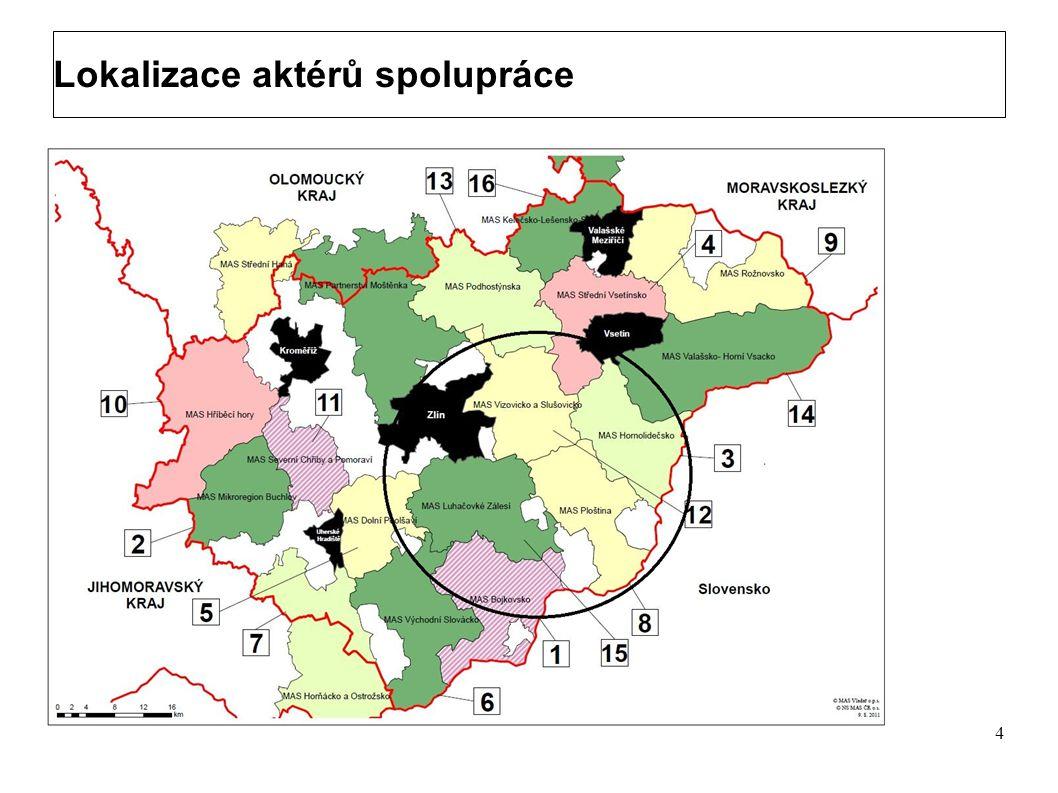 Lokalizace aktérů spolupráce 3