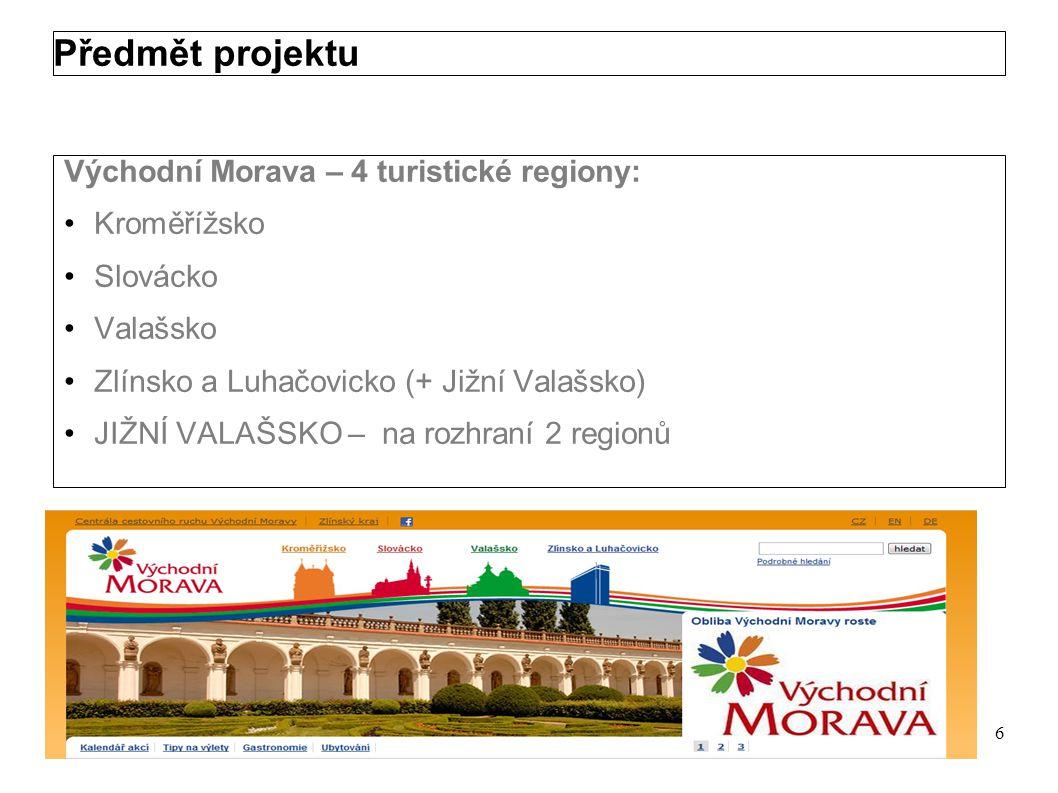 Předmět projektu Projekt je zaměřen na zefektivnění a zkvalitnění vznikajícího produktu cestovního ruchu TRNKOVÁ STEZKA Jedná se o nekomerční produkt cestovního ruchu na území JIŽNÍHO VALAŠSKA Území působnosti 3 MAS, které projekt předkládají, odpovídá území JIŽNÍHO VALAŠSKA, turistického subregionu v rámci destinační oblasti Východní Morava (Zlínský kraj) 5