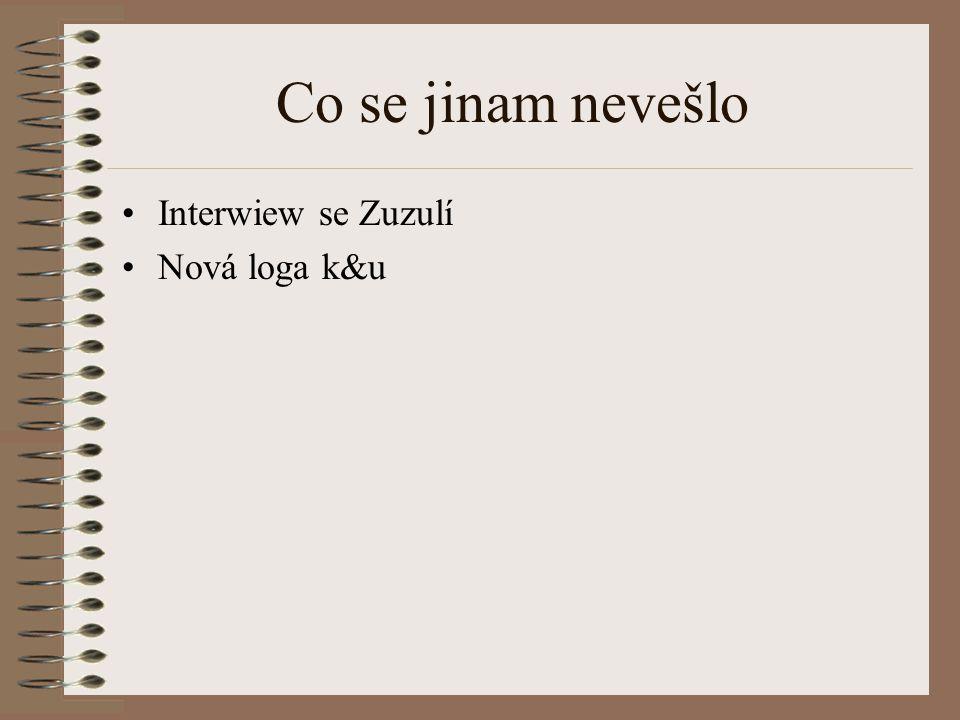 Co se jinam nevešlo Interwiew se Zuzulí Nová loga k&u