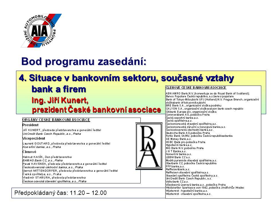 17 Bod programu zasedání: Předpokládaný čas: 11.20 – 12.00 4.